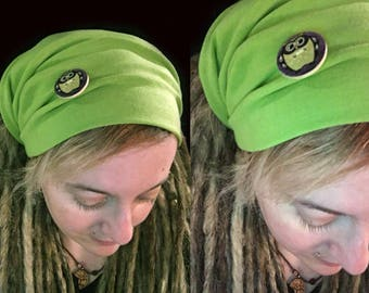 Dreadlocks tube, owl, Dreadlocks, Dread, dreadlocks, Dread hat, headband, dreadlock Tam hat, wide wrap, XXL, Microfiber, yoga
