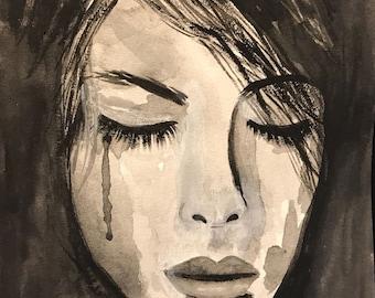 TEAR LADY- CLOSED eyes