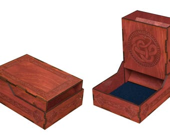 Engraved Dice Tower, Baltic Birch Plywood