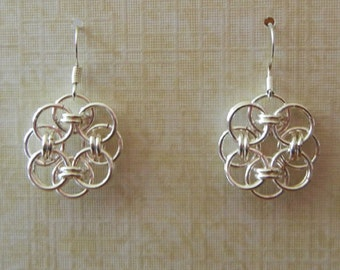 Celtic Helm Chainmaille Earrings