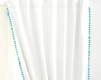 Double sided Pom Pom Cotton Curtain