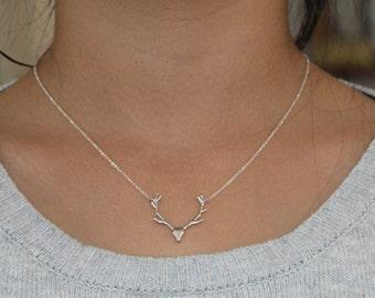 Deer Antler necklace, antler necklace, deer antler, reindeer necklace