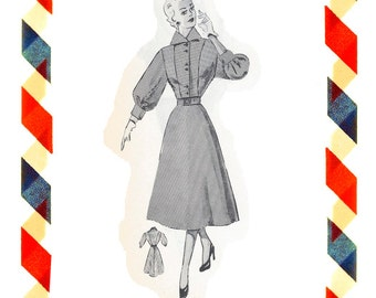 Vintage Sewing Pattern in any size including plus size 1949 PDF Instant Download Pattern no 10a