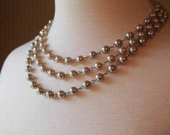 Tiered Pearl Necklace
