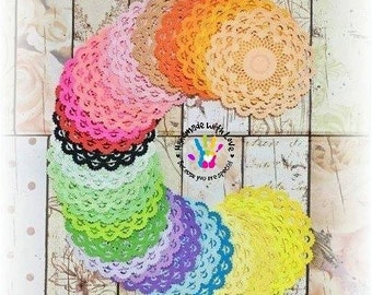 Layered Lace Doilies. 1 pack of 24 pieces. Material 80gsm double sided paper, acid free. You can also choose your preferred colour. :)