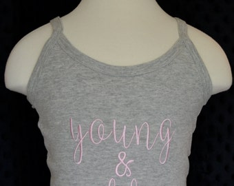 Personalized Blank Space Young & Reckless Applique Shirt or Bodysuit
