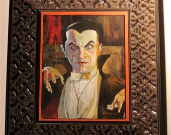 Original Framed Painting - Count Dracula