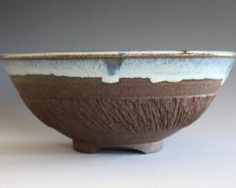 Pottery Bowl, Handmade Ceramic Bowl, hand thrown stoneware bowl, ceramic serving bowl