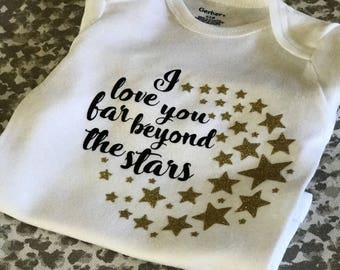 I love you stars onesie