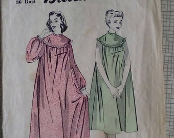"""1950s Nightdress - 36"""" Bust - Blackmore 8826 - Vintage Sewing Pattern"""