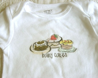 Baby Cakes Baby Bodysuit (sizes newborn to 24 months)