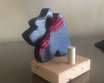 Scottie Dog Business Card Holder