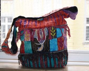 Colorful hippie bag, elephant, hippie look