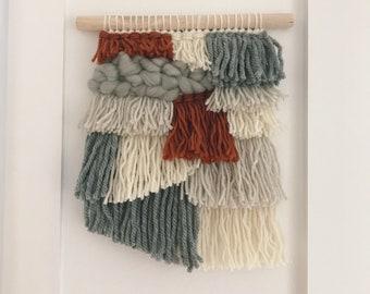 Handwoven Wall Art // Weaving // Fringe // Woven Art