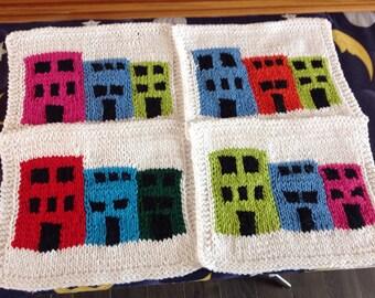 Newfoundand Row House Dishcloth