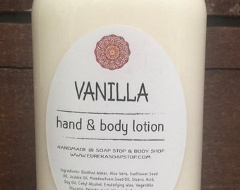 Vanilla Handmade Hand & Body Lotion - One 4 oz Bottle