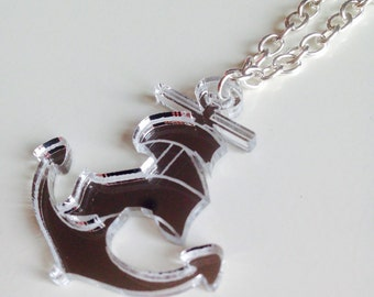 Sale | Anchor | Nautical | Mermaid | Old School | Tattoo Rockabilly | Laser Cut | Acrylic | Necklace