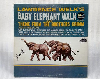 Vintage 1962 Lawrence Welk's Baby Elephant Walk And Theme From The Brothers Grimm. LP By Dot Records DLP 3457 G+