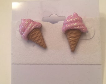 Ice Cream Cone Earrings and/or Necklace