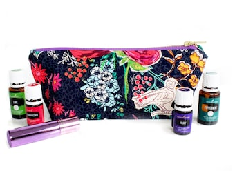 Large Essential Oil Storage Bag - Oil Case - Travel Case for Young Living / Doterra Essential Oils - Poppy