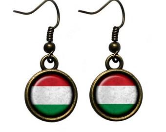 Hungary Hungarian Czechoslovakian Flag Earrings