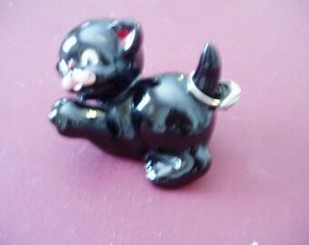 Liebenswert Jahrgang schwarze Katze Ring Inhaber