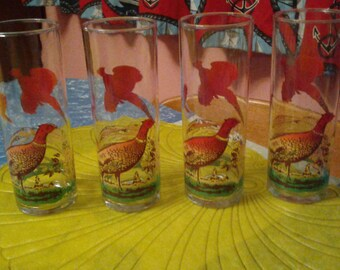 Pheasant highball glasses