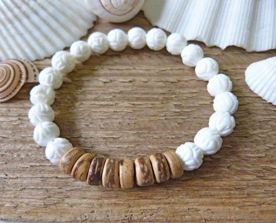 beach bracelet, beachcomber bohemian jewelry