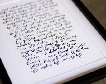 Hand Lettered Long Quote   Lyrics   Vows