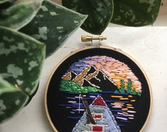 Great Outdoors Handmade Embroidery Hoop Art