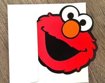 Elmo Invitations - Elmo Invite - Elmo Party - Elmo Birthday - Sesame Street Birthday