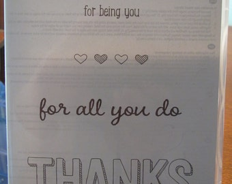 NEW!! Stampin' Up! For Being You retired photopolymer stamp set Sale-a-Bration (4)