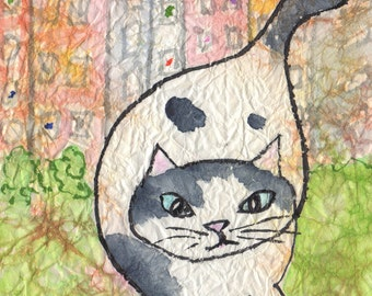 Cat Art Print The Dutchess