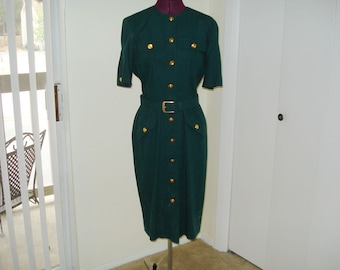 Vintage Liz Claiborne Hunter Green 8P