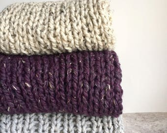 Foothills Knit Infinity Scarf, wool blend