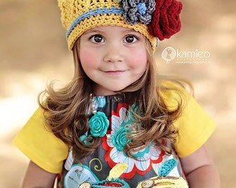 Instant Download, CLARA Slouch Hat Pattern, PDF FIle