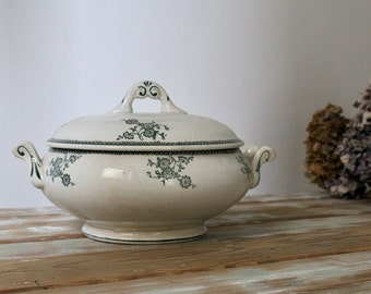 French Antique Tureen Ironstone