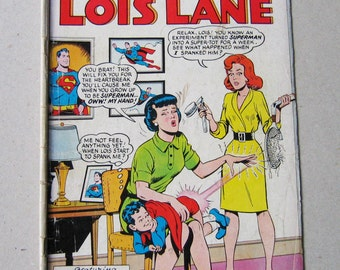 Old Comic Book, Lois Lane #57, DC Comic Book, Superman's Girlfriend, National Comics, Vintage Comic Book, Comic Book, Collectible, 1960s