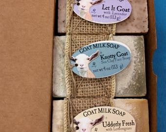3-bar Goat Milk Soap Gift Set
