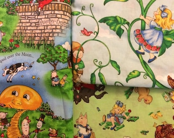 Fabric Mary Engelbreit Fairy Tale Fairytale Stories 100% Cotton Fat Quarter FQ Eustheelf L7