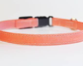 Pink Cat Collar Simple | Breakaway Cat Collar | Handmade | Adjustable | Small Dog Collar | Pet Collar | Safety Cat Collar |Solid Cat Collar