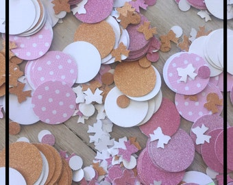 Table Confetti, Table Scatter, 1st Birthday Party Decorations, Gold Confetti, Pink Confetti, Glitter Confetti, Baby Shower Table Decorations