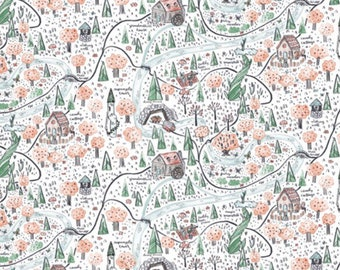 Forrest Map Blanket. Forrest Map. Map Blanket. Forrest Scene Blanket.
