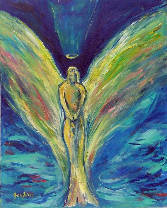 Angel Life's Reflection Vision of Angels Print of an Original Painting by artist BenWill
