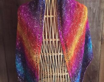 Rainbow Shawl / Triangle Scarf