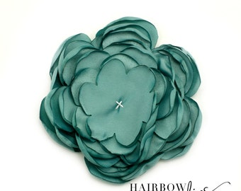 Sage Singed Satin Flowers 4 inch Multi Layer Singed Flowers, Satin Flowers, Satin Flower Headband, Satin Singed Flowers, Flower Girl