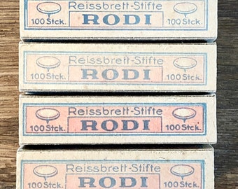 FREE WORLDWIDE SHIPPING - Rodi Reissbrett-Stifte 1960s Germany