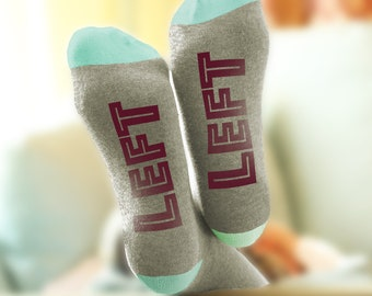 Funny Father's Day Sock Gift - Two Left Feet.