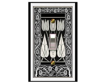 0385x - 'Art Deco Beardsley Tulips - mrs butler switch plate covers -