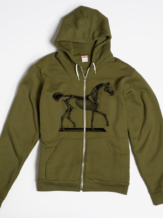 Zip Up Hoodie - Animal Hoodie - Rhino - Hoodie Men Unisex - Rhinoceros - American Apparel bTfzEOruA